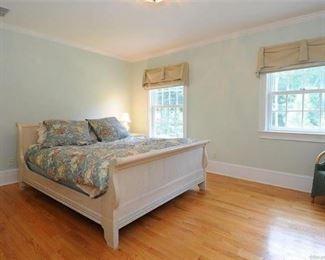 White Sleigh Bed