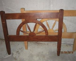 WAGON WHEEL BUNK BED HEADBOARDS