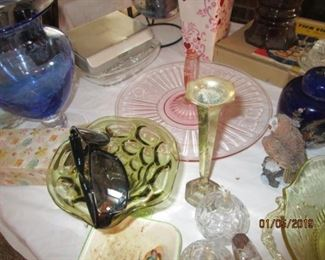 GLASSWARE INCLUDING DEPRESSION GLASSWARE