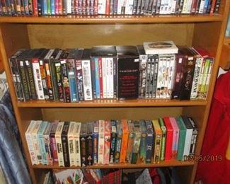 DVDS, CDS, VHS