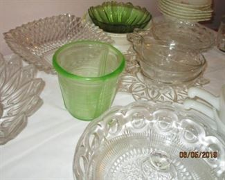 CAMBRIDGE MEASURING BOWL, CRYSTAL, ETC