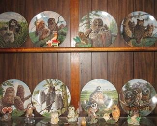 HAMILTON OWL PLATES (WITH BOXES)