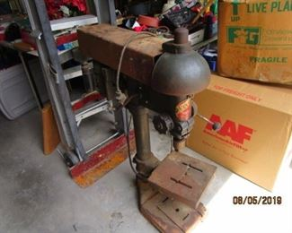 old, old drill press
