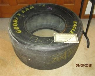 JEFF GORDON RACING TIRE WITH COA