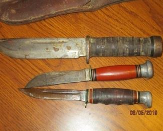 VINTAGE KNIVES INCLUDING FISKER AND KABAR