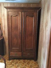 Antique Armoire Closet Cupboard