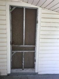 Antique screen door.