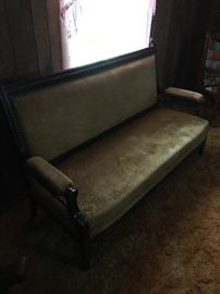 Antique 1800's carved settee.
