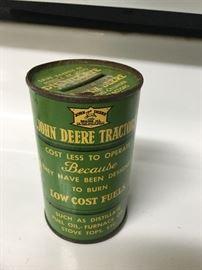 Antique 1937 John Deere Centennial Coin Bank