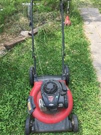 """Briggs & Stratton push lawn mower. Great working condition. 21"""" cutting width. 140 CC. Deck is dirty not rusted.  Kept in a shop."""