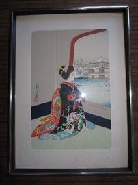Woodblock print art