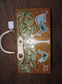 "Enid Collins ""Money Tree Vl"" cute wood purse"