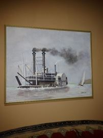 Boat painting.