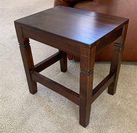 Walnut End Table15x14x10inHxWxD
