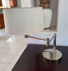 Ralph Lauren Swing Arm Desk Lamp Chrome
