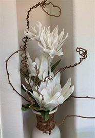 White Pot Floral Arrangement42inH