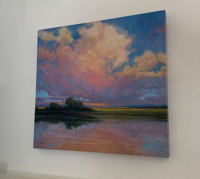 Kim Coulter Spring Sunset Artist Print Signed30x32in