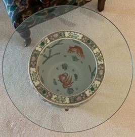 Asian/Chinese Fish Bowl End Table20x24in Diameter