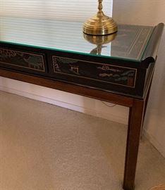 Drexel Heritage Chinoiserie Table27x57x14inHxWxD