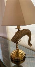 Ram Horn Lamp