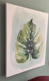 Grace Popp Paradise Leaf Painting28Hx22Win