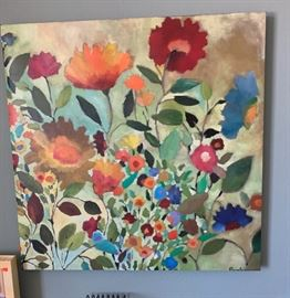 Kim Parker Floral Painting35x35in