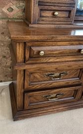 Lane Walnut Dresser Unit79x18x19inHxWxD