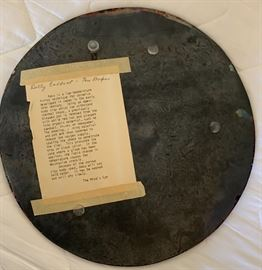 Betty Colbrt Raku Pottery Plate