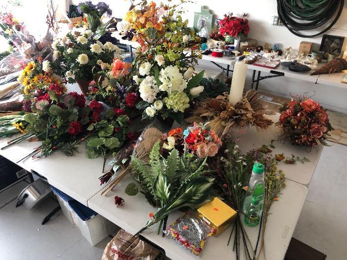 Lots of Silk Flowers