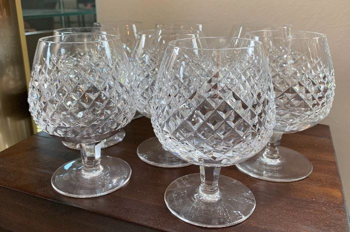 8 Waterford Alana Brandy Glasses/Snifters