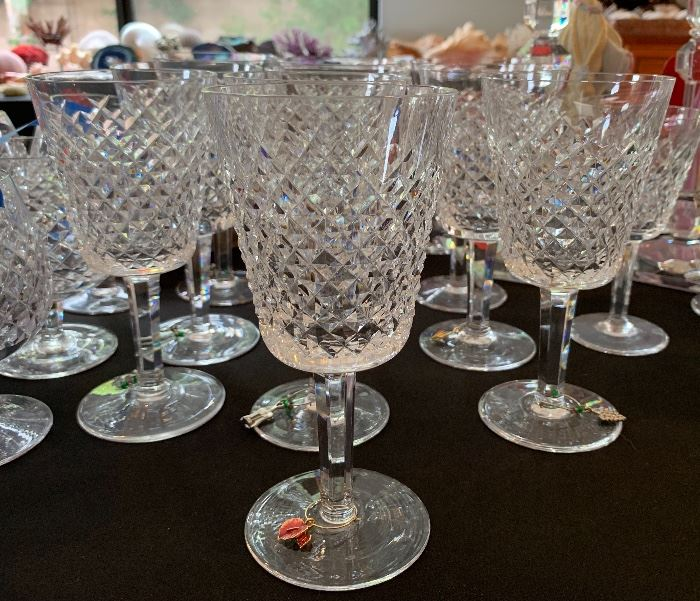 10 Waterford Alana Water Goblet Glasses