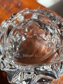 Tiffany & Co Germany Crystal Rock Cut Votive/Dish