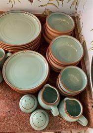 40+ Pc Noritake Stoneware Boulder Rige