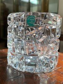 Tiffany & Co Germany Crystal Rock Cut Votive/Dish #2