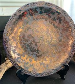Raku Pottery Plate
