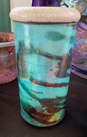 Rift Zone Ceramics Raku Vase