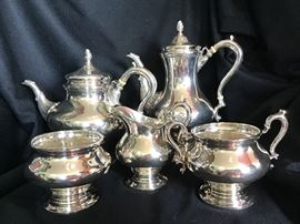 """Tuttle """"George II Period"""" Sterling Tea Set - no tray, but HEAVY!"""