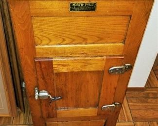 Antique North Pole Ice Box