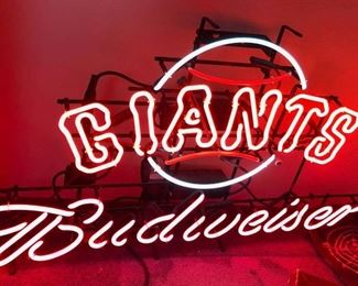 Giants Budweiser Neon Sign
