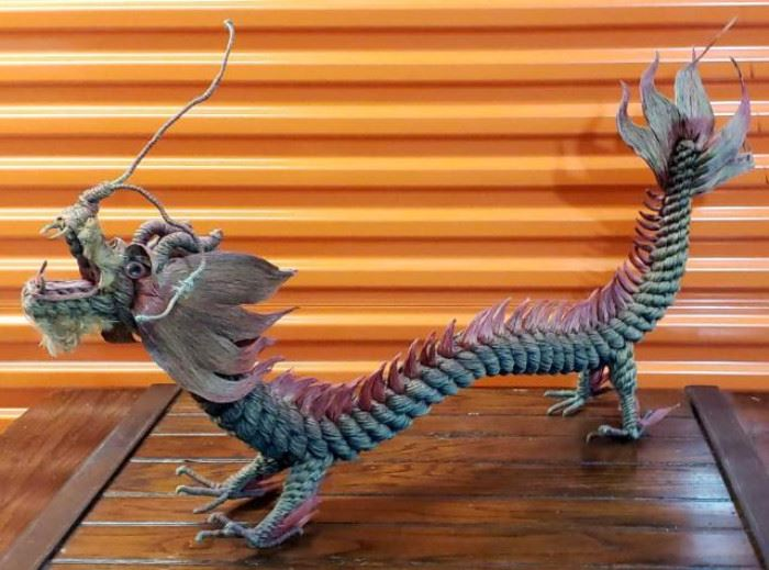 """Hand Made Rope Dragon Approx 42""""L"""