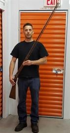 """Antique Tennessee Long Rifle Pre-Civil War Approx 65"""" overall length, 50"""" barrel                                               Handsome model, single but not included:)"""