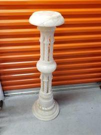 Vintage Spanish Carved Alabaster Stand