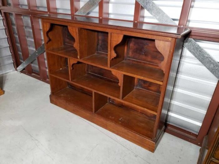 T15-1.jpgAntique Solid Wood Bookcase/ Display Mixed woods, possibly cherry
