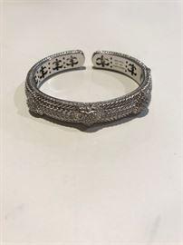 Judith Ripka Sterling and CZ bracelet