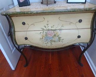 Lloyd's of Somerville hand painted console chest