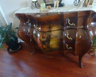 Hand Painted Bombay Chest
