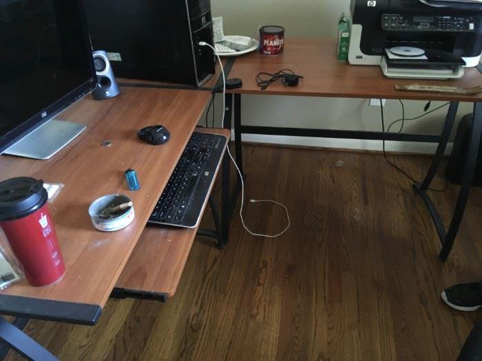 A nice computer station.