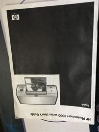 This is the manual for an HP Photosmart 8000 available in the sale.