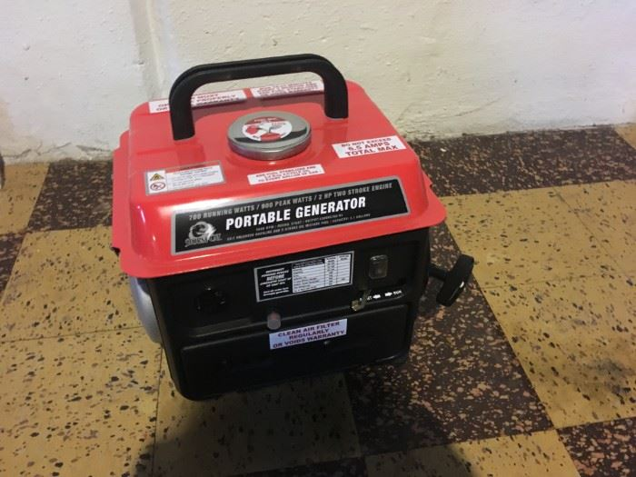 A very practical portable generator -- never used.
