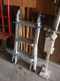 A Werner adjustable ladder.